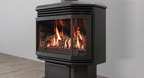 po les et foyers au gaz de d cor chaleur ch teauguay. Black Bedroom Furniture Sets. Home Design Ideas